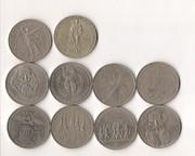Продам коллекцию юбилейных монет советских рублей
