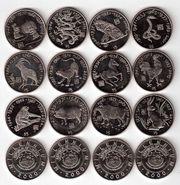 Монеты Знаков зодиака Либерия $5 2000 года Восточный Гороскоп