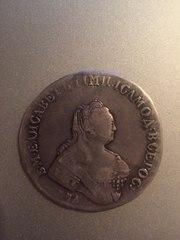 Рубль времен правления Елизаветы. Серебряный 1743 год
