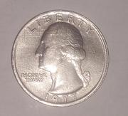 США 25 центов 1977 г.