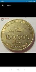 100.000лира 1999года
